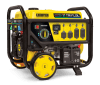 10kW Champion Tri-Fuel portable generator with yellow body and black trim.